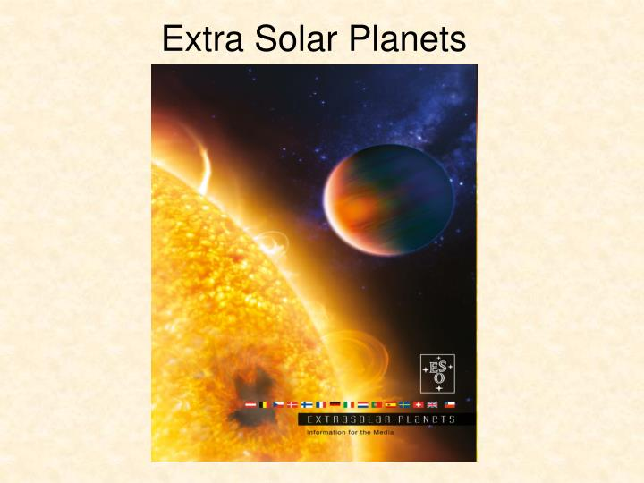 extra solar planets n.