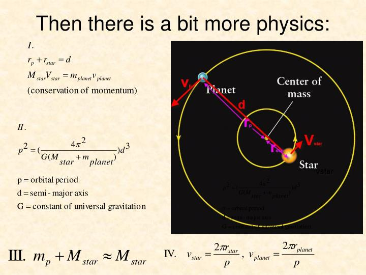 Then there is a bit more physics: