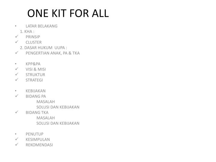one kit for all n.