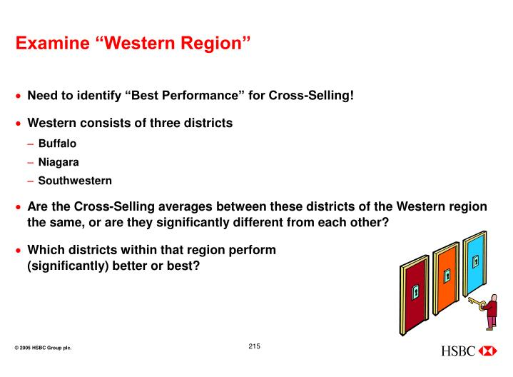 "Examine ""Western Region"""