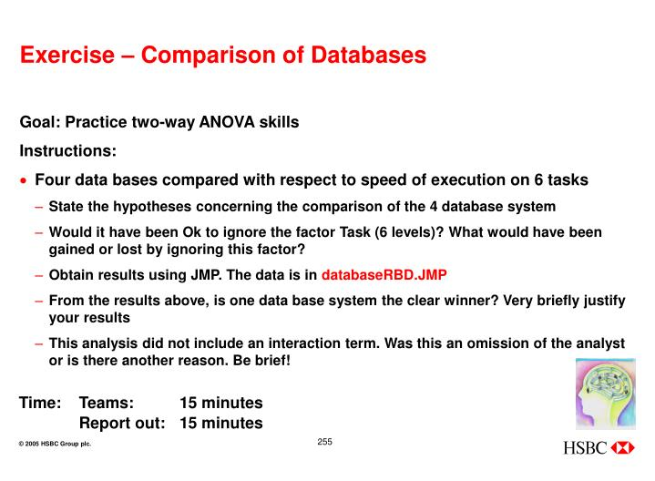Exercise – Comparison of Databases