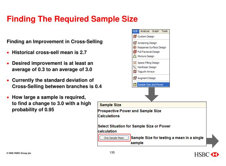 Finding The Required Sample Size