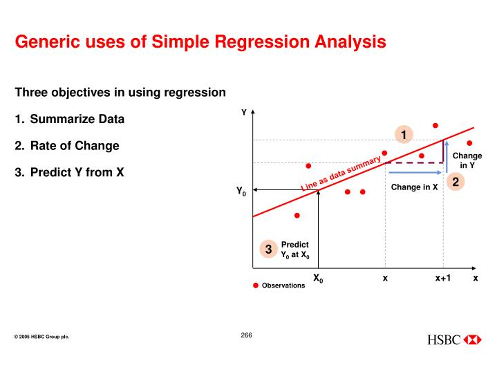 Generic uses of Simple Regression Analysis
