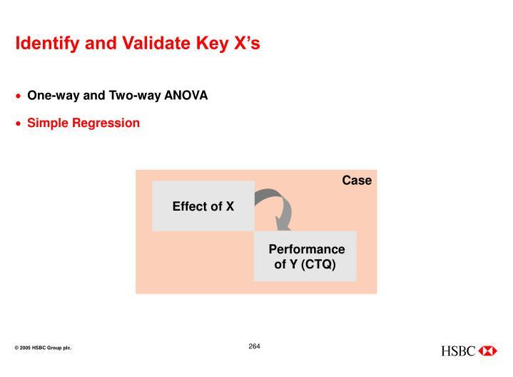 Identify and Validate Key X's