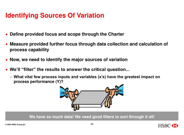 Identifying Sources Of Variation