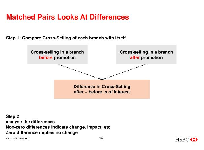 Matched Pairs Looks At Differences
