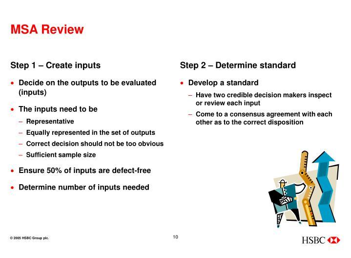 Step 1 – Create inputs