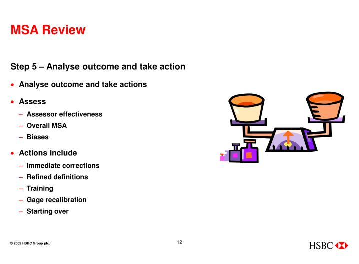 Step 5 – Analyse outcome and take action