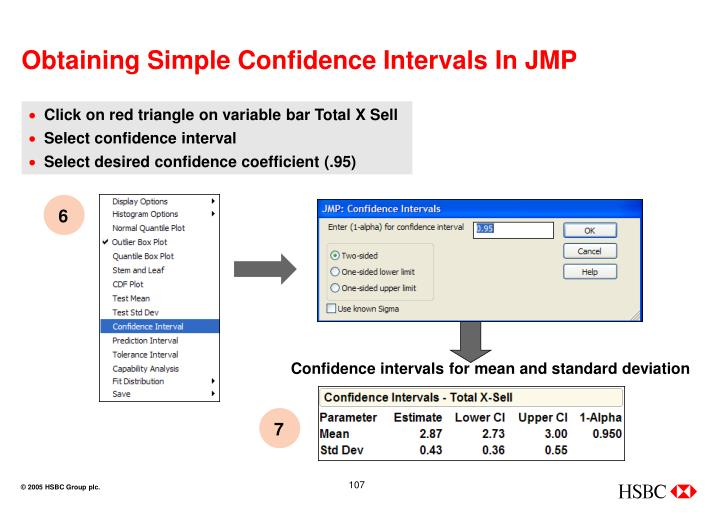 Confidence intervals for mean and standard deviation