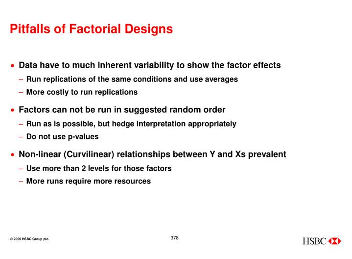 Pitfalls of Factorial Designs