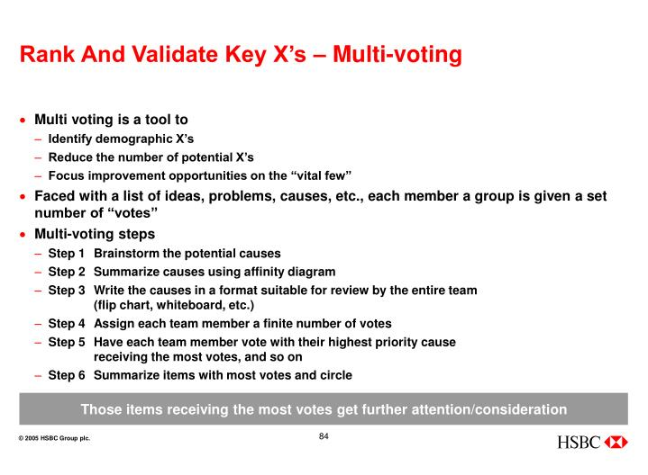 Rank And Validate Key X's – Multi-voting