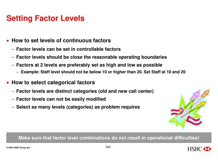 Setting Factor Levels