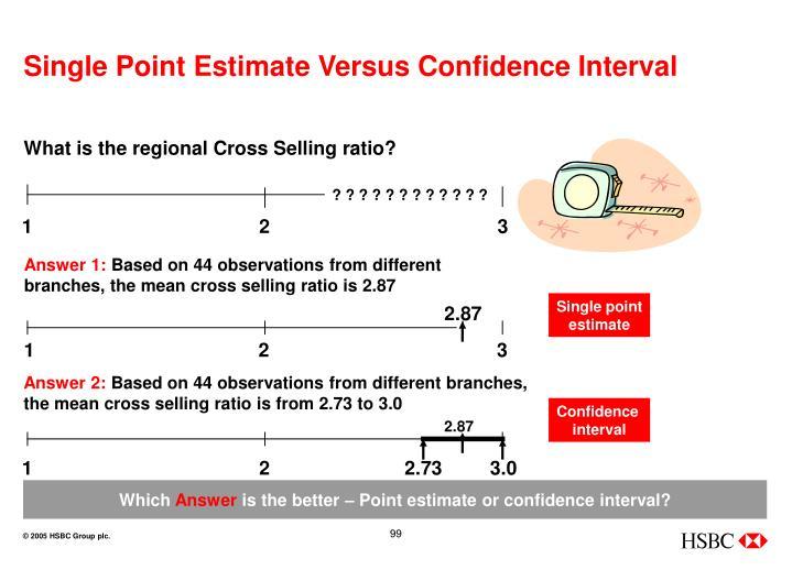 Single Point Estimate Versus Confidence Interval