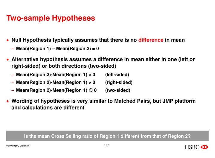Two-sample Hypotheses