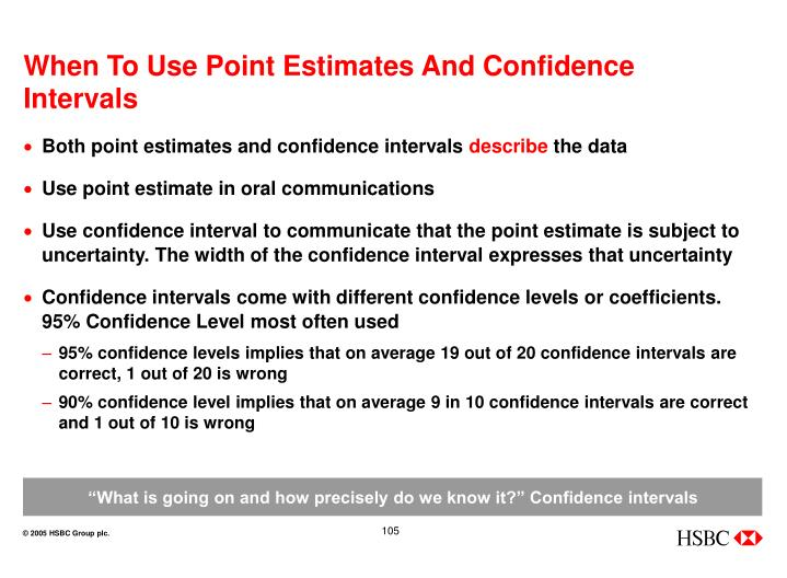 When To Use Point Estimates And Confidence Intervals