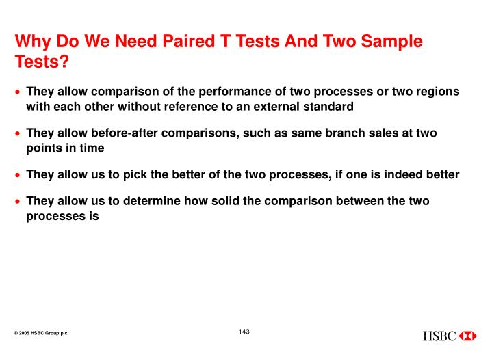 Why Do We Need Paired T Tests And Two Sample Tests?