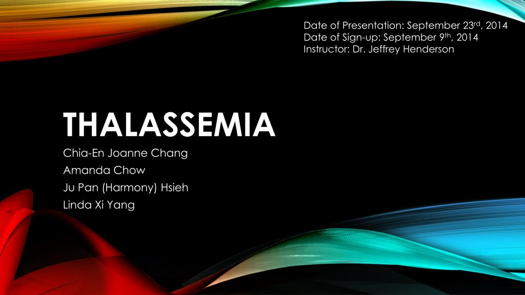 ppt thalassemia powerpoint presentation id 5780465