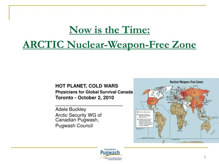 now is the time arctic nuclear weapon free zone n.