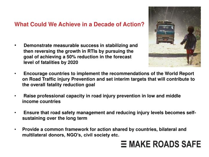 What Could We Achieve in a Decade of Action?