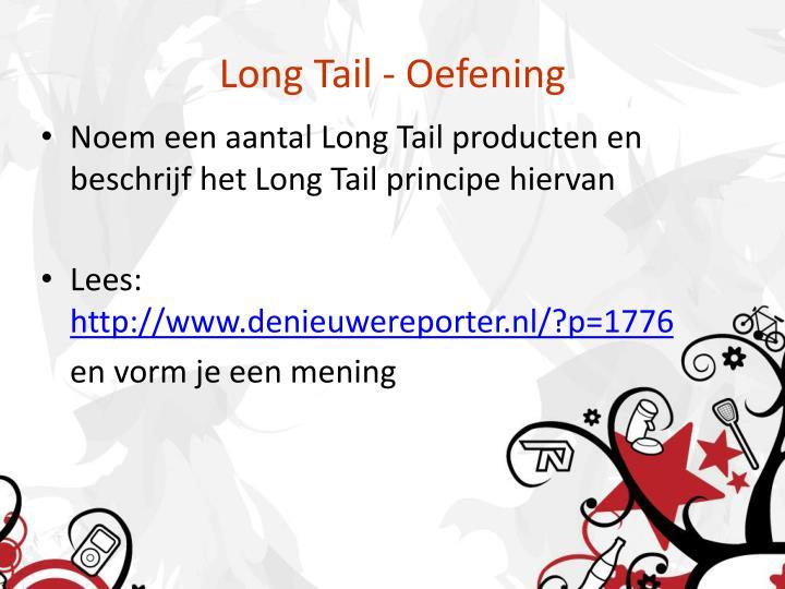 Long Tail - Oefening