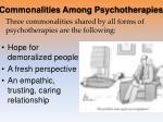 commonalities among psychotherapies
