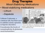 drug therapies mood stabilizing medications