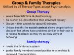 group family therapies