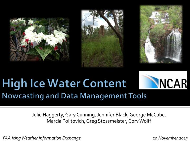 high ice water content nowcasting and data management tools n.