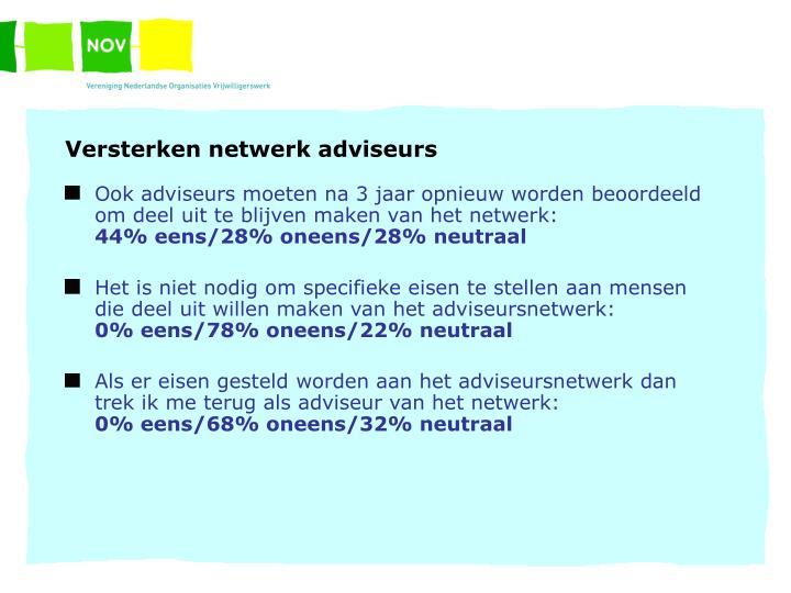 Versterken netwerk adviseurs