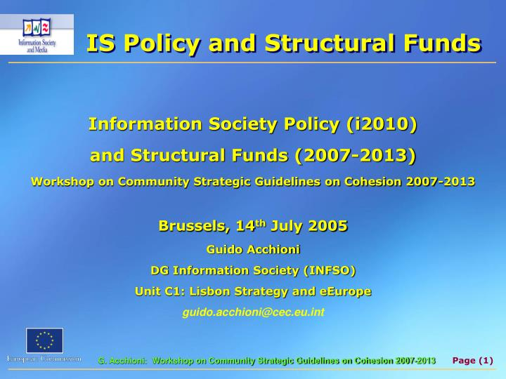 is policy and structural funds n.