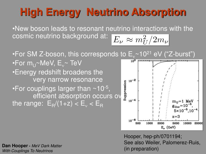 High Energy  Neutrino Absorption