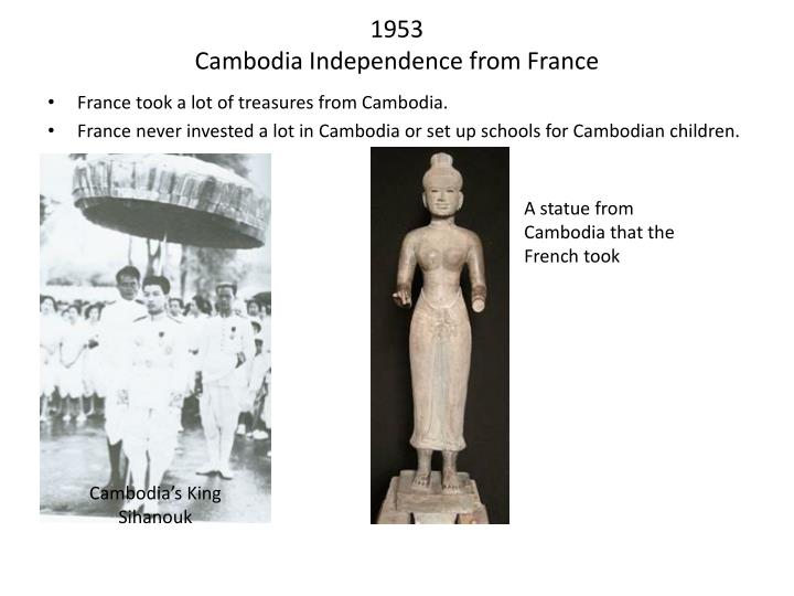 1953 cambodia independence from france n.
