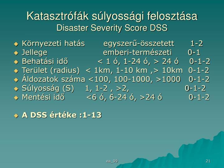 Katasztrófák súlyossági felosztása