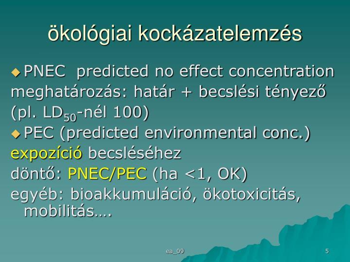 ökológiai kockázatelemzés