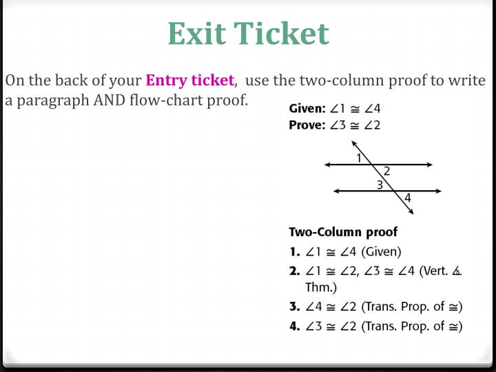 write a paragraph proof given and prove
