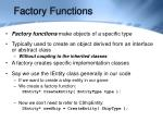 factory functions