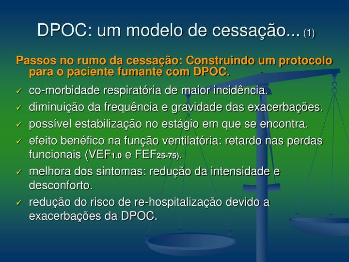 DPOC: um modelo de cessação...