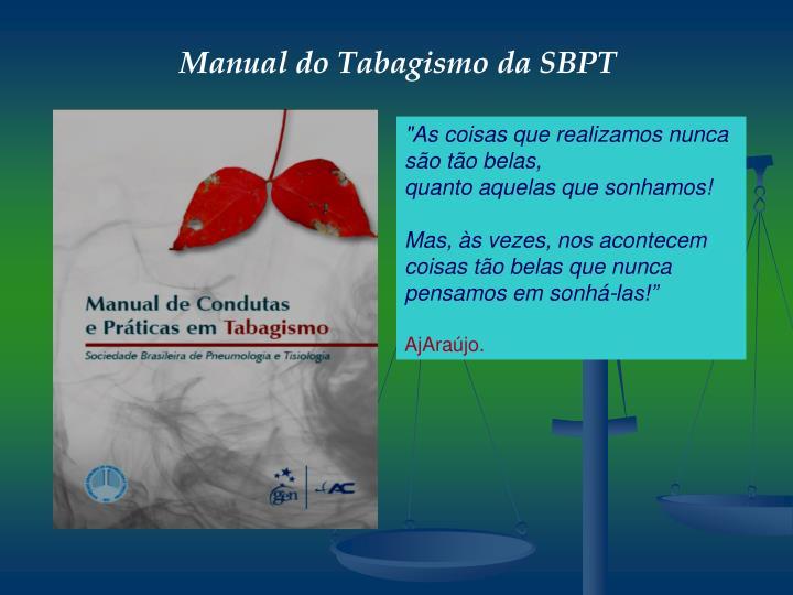 Manual do Tabagismo da SBPT