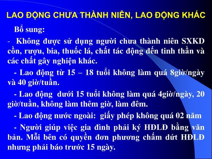 LAO ĐỘNG CH
