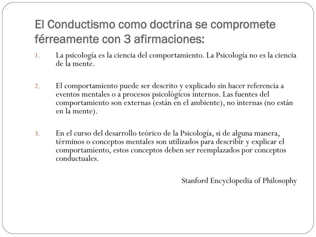 Ppt La Teoría Conductista Del Aprendizaje Humano