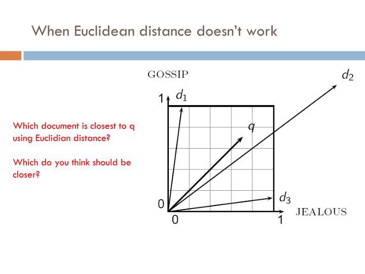 When Euclidean distance doesn't work