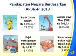 pendapatan negara berdasarkan apbn p 20131
