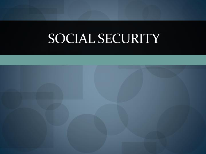 social security n.