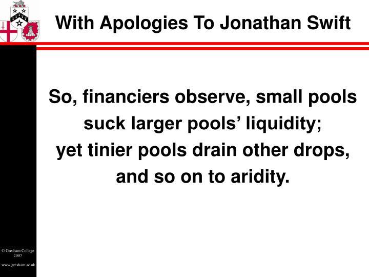With Apologies To Jonathan Swift