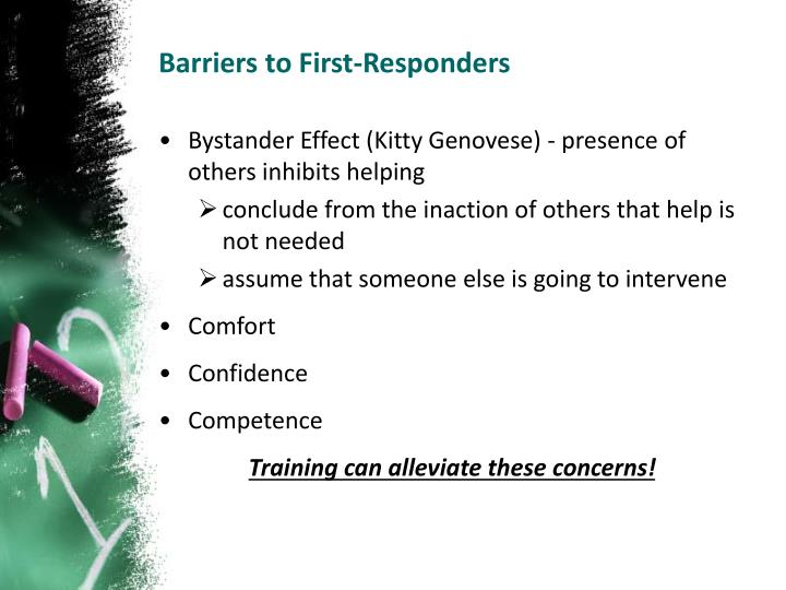 Barriers to First-Responders