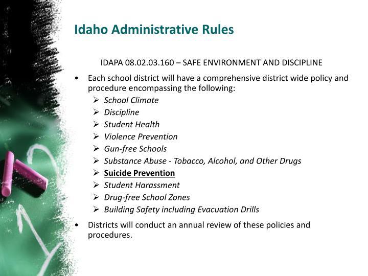 Idaho Administrative Rules