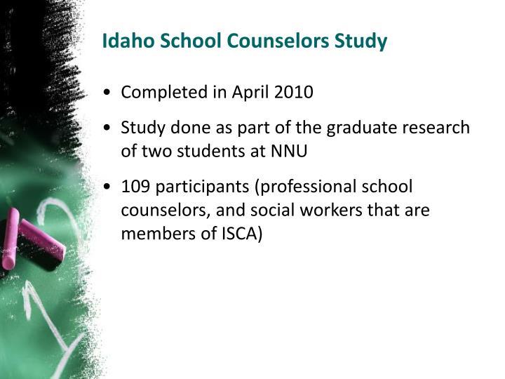 Idaho School Counselors Study