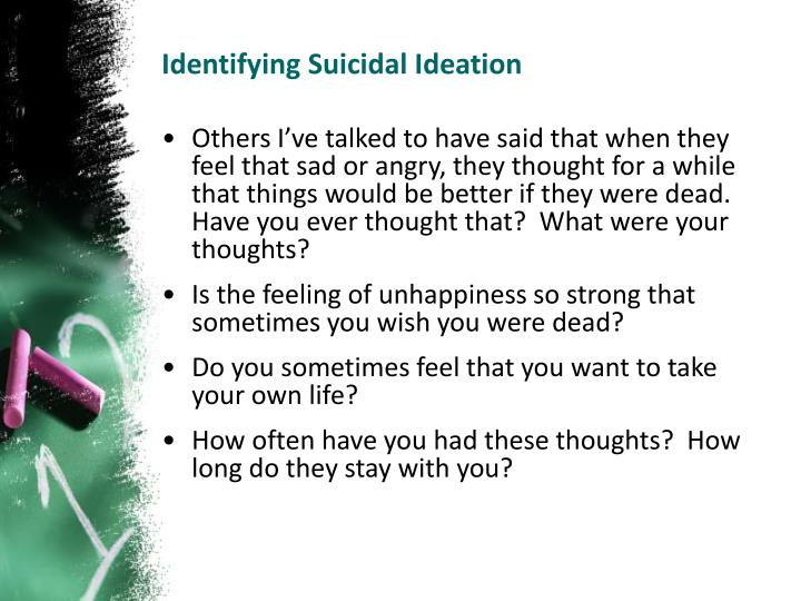 Identifying Suicidal Ideation