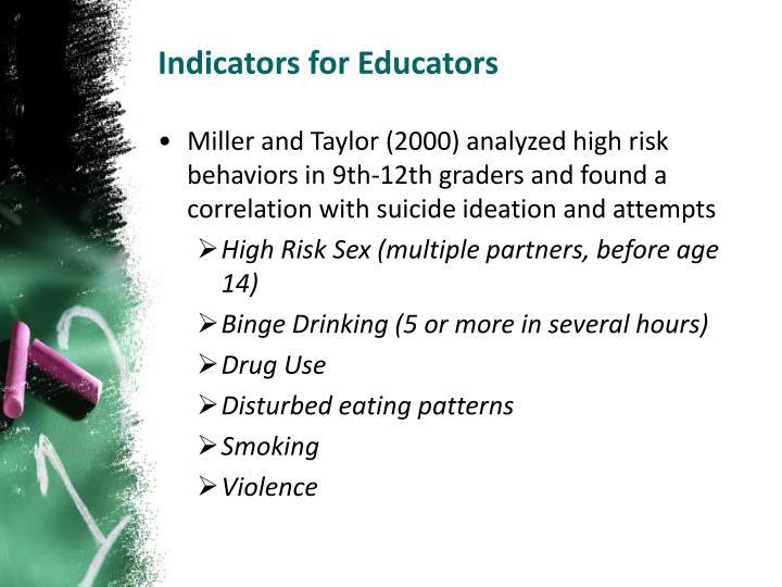 Indicators for Educators