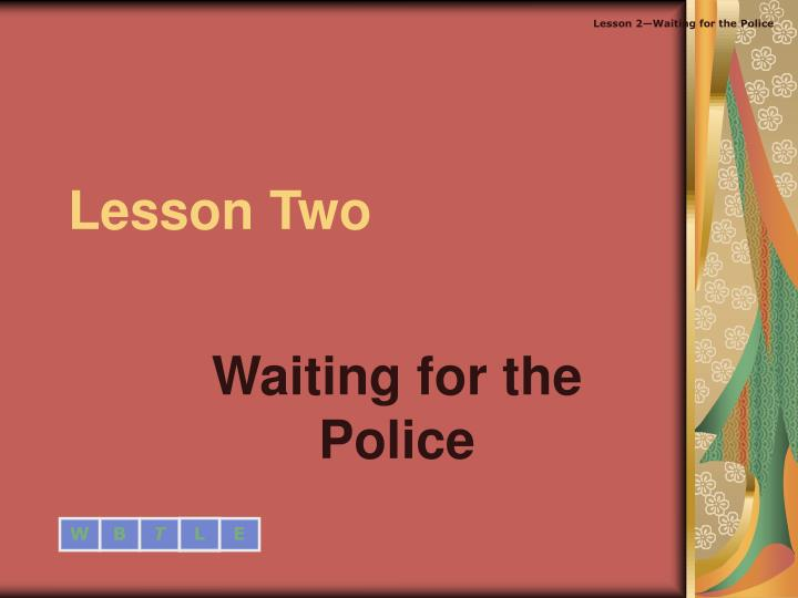 lesson two